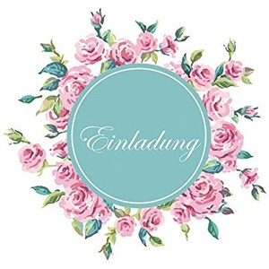 Einladungskarte - Blumenranke - 10,5 x 14,5 cm