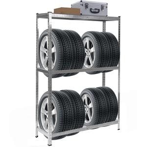 Reifenregal HWC-E36, Reifenständer Lagerregal Schwerlastregal, Tragkraft bis 795kg verzinkt 180x120x