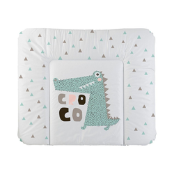 Rotho Babydesign Wickelauflage Wickelauflage Cheeky Croco, 72 x 85 cm