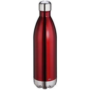 CILIO Isolierflasche ELEGANTE 1,0 Liter Edelstahl rot-metallic Trinkflasche
