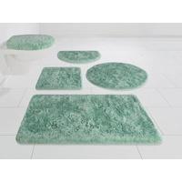 my home Badematte Merida Höhe 32 mm, fußbodenheizungsgeeignet grün rund - Ø 80 cm x 32 mm