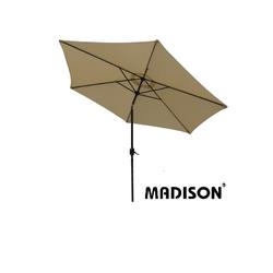 Madison TENERIFE Sonnenschirm Kurbelschirm rund Ø 300cm knickbar natur/ecru