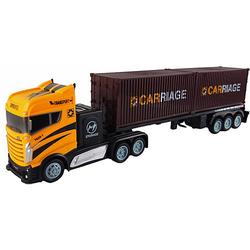 Sattelzug mit zwei Containern 1:16  - 2,4GHz, 15 km/h gelb-kombi