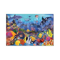 Melissa & Doug Puzzle Fußbodenpuzzle - Unterwasserwelt, 48 Teile, Puzzleteile