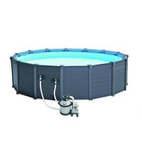 Intex Graphite Panel Pool Set 478 x 124 cm inkl. Sandfilteranlage (28382)