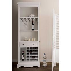Küchenregal in Weiß mit Weinregal