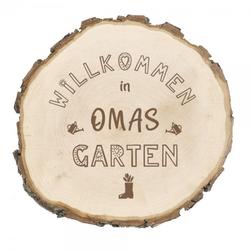 """Baumscheibe mit Gravur """"Omas Garten"""""""