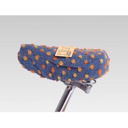 Licardo Sattelschoner Fahrradsattelbezug Sattelschoner Wolle onesize blau
