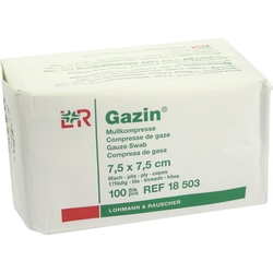 GAZIN Kompresse 7.5x7.5cm 8fach OP