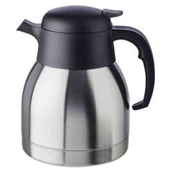 APS CLASSIC Isolierkanne, Getränkekanne für heiße und kalte Getränke, Maße (Ø x H): 14 x 19 cm, 1 Liter