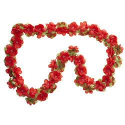 Basil Fahrradkorb BASIL Blumengirlande rot