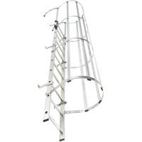 HAILO Steigleiter mit Rückenschutz ALM-18 aus Aluminium + Stahl verzinkt 5,04m