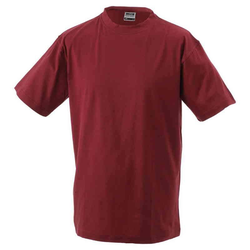 Basic T-Shirt S - 3XL | James & Nicholson weinrot XXL