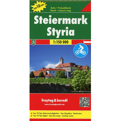 Steiermark Top 10 Tips Autokarte 1 : 150 000