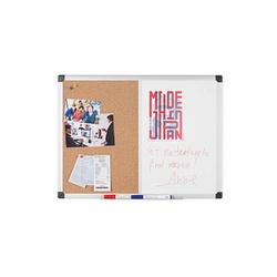 Bi-Office Whiteboard-Pinnwand MAYA KOMBI 60,0 x 45,0 cm Kork braun