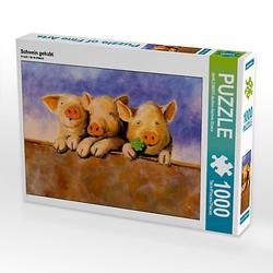 Schwein gehabt Lege-Größe 64 x 48 cm Foto-Puzzle Bild von Jutta Kleinert Puzzle