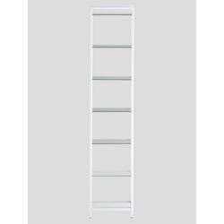 Regal mit Glasböden weiß 7 Böden