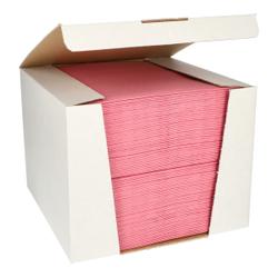 Papstar ROYAL Collection Servietten, 40 x 40 cm, rosa, 3-lagige Premium-Servietten in Stoffoptik, 1 Spenderbox = 100 Tücher