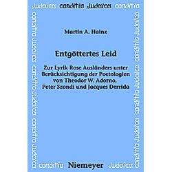 Entgöttertes Leid. Martin A. Hainz  - Buch