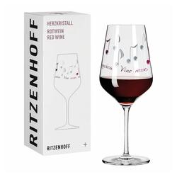 Ritzenhoff Rotweinglas Herzkristall Rotwein 003, Kristallglas, Made in Germany bunt