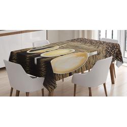 Abakuhaus Tischdecke Personalisiert Farbfest Waschbar Für den Außen Bereich geeignet Klare Farben, Kaffee Sortiment von Kaffeetasse 140 cm x 200 cm