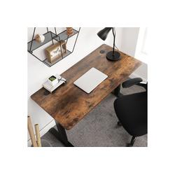 SONGMICS Tischplatte LDB001B01, elektrischen Schreibtisch, 120 x 60 x 1,8 cm, vintagebraun