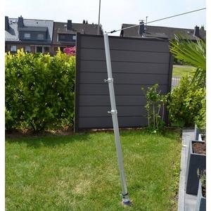FLORACORD Mast Alu, für Sonnensegel bis 25 m² silberfarben