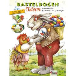 Ostern Bastelbogen Körbchen und Becher