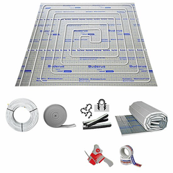 160 m² Fußbodenheizung-Set - Tackersystem (Isolierung wählen: Stärke 25-2 mm)