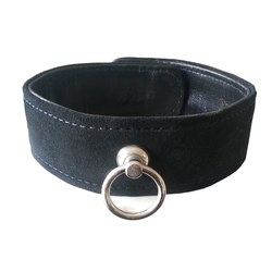 Leder Bondage Designer Halsband gepolstert schwarz