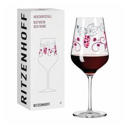 Ritzenhoff Rotweinglas Herzkristall Rotwein 004, Kristallglas, Made in Germany bunt
