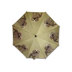 Mars & More Stockregenschirm Mars & More Regenschirm creme-farbener Labrador