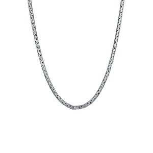 KUZZOI KUZZOI Halskette Herren Königskette Rund 925 Sterling Silber Herrenschmuck Herren