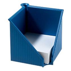 helit Zettelbox mit Stiftehalter 127 x 117 mm Blau