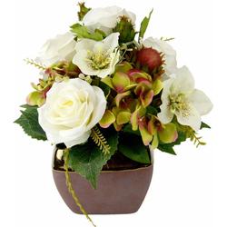 Kunstpflanze Rosen/Christrose/Hortensie, I.GE.A., Höhe 30 cm