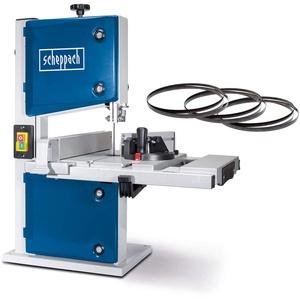 Scheppach HBS30 Bandsäge Holzbandsäge Holzsäge Tischsäge Säge inkl. 3 Sägebänder | 230 Volt | 350 Watt | max. Durchlasshöhe: 80 mm | max. Durchlassbreite: 200 mm