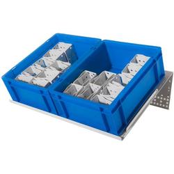 Manuflex ZB4795.7035 Behälterstandkonsolen zur Reduktion der Zugriffszeiten auf Kleinteile, Breite