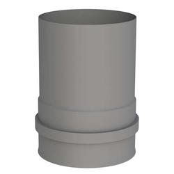 Ø 100 mm Pelletofenrohr Ofenanschlussstück mit Muffe Grau