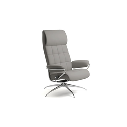 Stressless Ruhesessel London High Back (M) in Paloma silver grey mit Star Gestell