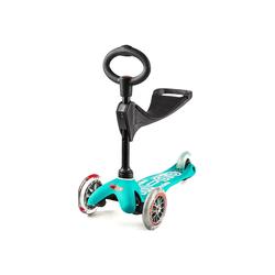Micro Scooter Mini Micro 3in1 Deluxe aqua, inkl. T-Stange Kickboardreifen - PU Reifen, Kickboardart - Kickboard  1-5 Jahre , Kickboardfarbe - aqua,