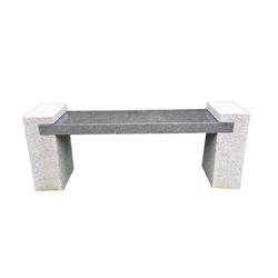Dehner Gartenbank 2-Sitzer, 120 x 45 x 30 cm, Granit, grau