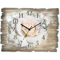 Wanduhr »In Buchstaben - Rose«, Wanduhren, 79361139-0 weiß weiß