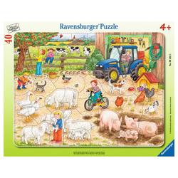 Ravensburger Rahmenpuzzle Auf Dem Großen Bauernhof - Rahmenpuzzle, 40 Puzzleteile