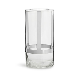 Sagaform Hold Vase Groß Silber