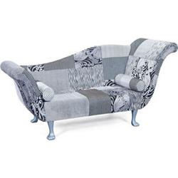 Design Ottomane Sofa Syrgam schwarz weiss Polstersofa Couch Garnitur Recamiere