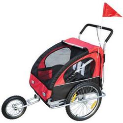 HOMCOM 2 in1 Kinderfahrradanhänger 90 x 122 x 106 cm (BxLxH)   Jogger Fahrradanhänger Kinder Radanhänger