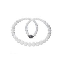 Bella Carina Perlenkette Mondstein, Mondstein Kette 45 cm
