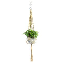 Masbekte Dekohänger, Blumenampel Blumentopf Pflanzen Wohnkultur Topfpflanzgefäß, Höhe ca. 105cm braun