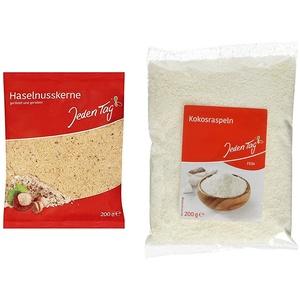 Jeden Tag Haselnusskerne gemahlen, 200 g & Kokosraspeln, 200g