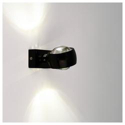 s.LUCE Wandleuchte Beam mit Glaslinsen schwarz